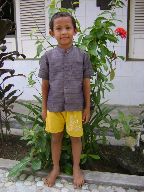 """Luck"" at 5 years old. Photo taken at the Orphanage on June 14, 2009"